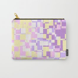 Abstract Geometric pixels with Unicorn Colors design Carry-All Pouch