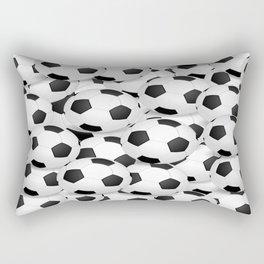 Soccer Ballls Rectangular Pillow