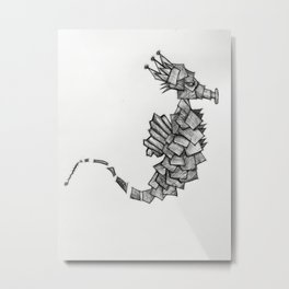 Royal Seahorse Metal Print