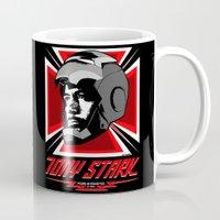 tony stark Mugs featuring Tony Stark by Ant Atomic