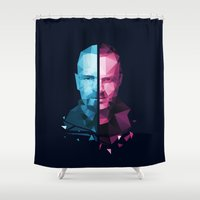 jesse pinkman Shower Curtains featuring BREAKING BAD - White/Pinkman by Dr.Söd