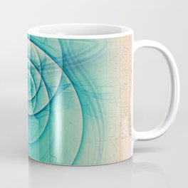 Egyptian Turquoise Scarab on Beige Sandstone Glyphs Coffee Mug