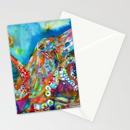OCTOPUS - watercolor portrait.1 Stationery Cards