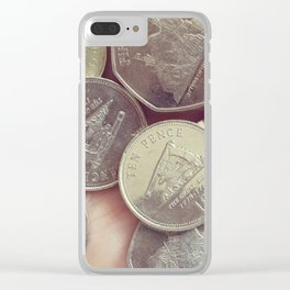 Gibraltar coin Clear iPhone Case