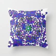 Into The Darkness Of Space Throw Pillow