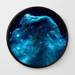 Turquoise Horsehead NeBula Wall Clock