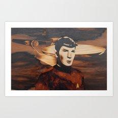 Leonard Nimoy alias Mr. Spock Art Print