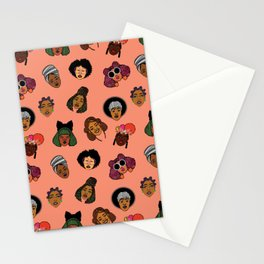 Black Hair Magic (Coral) Stationery Cards