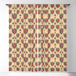 Three of Swords Blackout Curtain