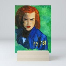 Agent Scully FBI Mini Art Print