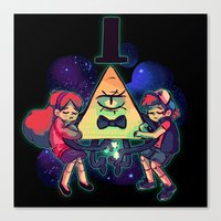 gravity falls Canvas Prints featuring Gravity Falls by Miki Draw