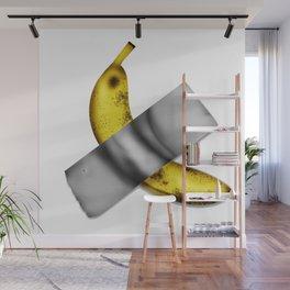 Cheap Version of $120,000 Duct-Taped Banana to Wall Artwork Wall Mural