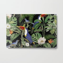 Tropical Jungle Toucans  Metal Print