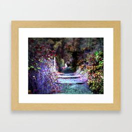 Secret Garden Path Purple Dream Photography Framed Art Print