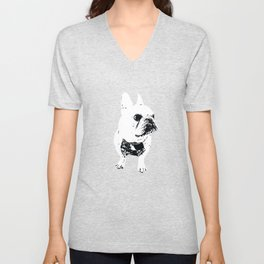 George the cutest French Bulldog Unisex V-Neck