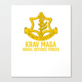 Krav Maga Israel Defense Force - IDF Self Defense System Canvas Print