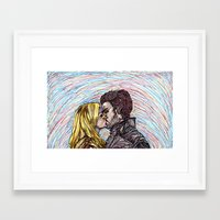 captain swan Framed Art Prints featuring Captain Swan by The Holga Contessa