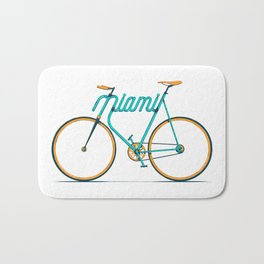 Miami Typo - Bike Bath Mat