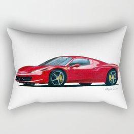 2009 Fer rari 458 Italia Car Drawing Rectangular Pillow
