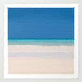 Dreamt Tropical Beach Design Art Print