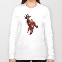 ironman Long Sleeve T-shirts featuring IRONMAN by Yuliya L