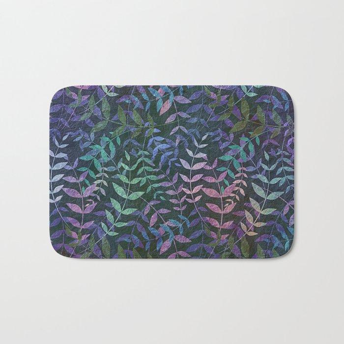 Tiny Leaves Pattern Bath Mat