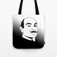 hercules Tote Bags featuring Hercules Poirot. by T-shirtevolution.com