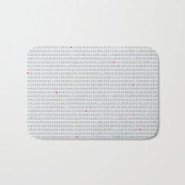 Binary Code Love Bath Mat