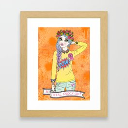 Total Knock Out Framed Art Print