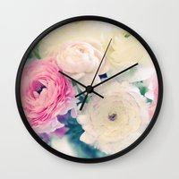 poetry Wall Clocks featuring Sweet Poetry by Lisa Argyropoulos