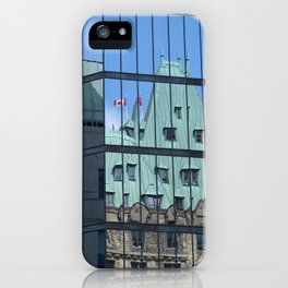 Maple leaf mirror Ottawa iPhone Case
