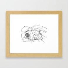 just leave me be Framed Art Print