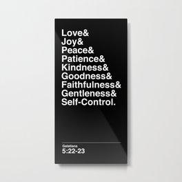 GALATIANS 5:22-23 Metal Print