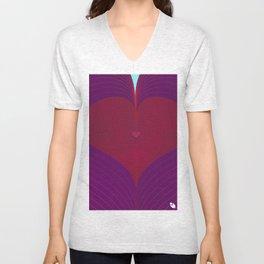 I Heart Lines Unisex V-Neck