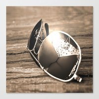 sunglasses Canvas Prints featuring Sunglasses by Cs025