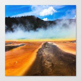 Orange runoff at Grand Prismatic Canvas Print