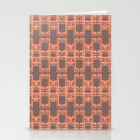 mid century modern Stationery Cards featuring Vintage Abstract Mid Century Modern Pattern by Reflektion Design