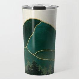 Mount Hood // Emerald Abstract Dream Oregon Green Gold Yellow Mountain Forest Wilderness Landscape Travel Mug