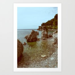 A coastline and a castle Art Print