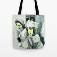 picasso Tote Bags featuring Painting Picasso by Marko Köppe