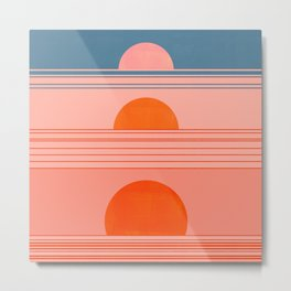 Abstraction_Sunset_Minimalism_002 Metal Print