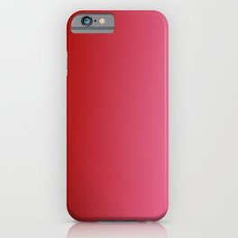 Ombre in Red Pink iPhone Case