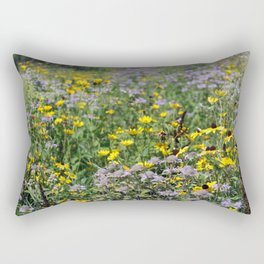 Native Prairie Flowers Rectangular Pillow