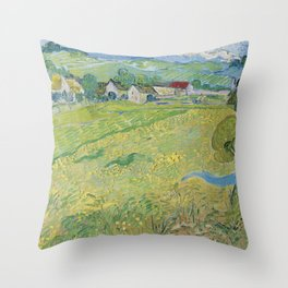 Vincent Van Gogh - Les Vessenots in Auvers Throw Pillow