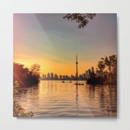 Toronto Skyline from Centre Island Metal Print
