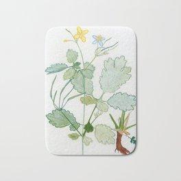 Summer celandine Bath Mat