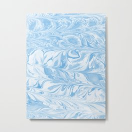 Sato - spilled ink abstract painting marble ocean swirl wave water sea painting marbled paper japan Metal Print