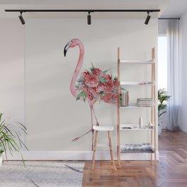 Flamingo Floral Wall Mural