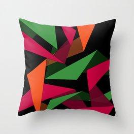 Triangular Lines Throw Pillow