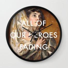 Joan of Arc is Fading Wall Clock